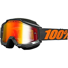 100% unisex-adult Goggle (Gray/Mirror Red,One Size) (ACCURI SNOW ACC SNOW Grey/Mirror Lens Red)