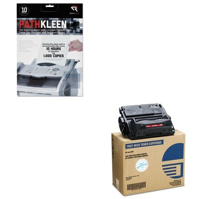 KITREARR1237TRS0281119001 - Value Kit - Troy 0281119001 39A Compatible MICR Toner (TRS0281119001) and Read Right PathKleen Printer Roller Cleaner Sheets - 0281119001 Compatible Toner Micr