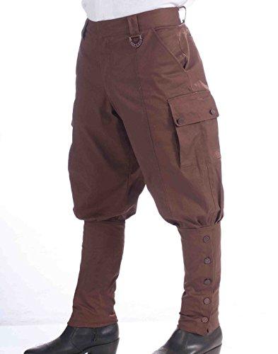 Forum Novelties Steampunk Jodhpur-Style Pants, Brown, One Size