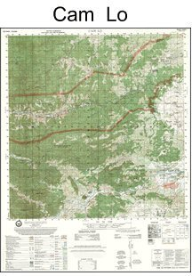 Vietnam Map - Cam Lo - South Vietnam and North Vietnam (Quang Binh and Quang Tri Provinces) (Latitude Range: 16 45'N - 17 00'N Longitude Range 106 45'E - 107 00' E)