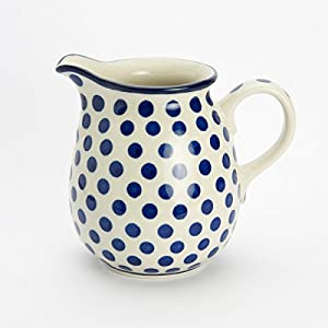 Polish Pottery Jug Pitcher – Small Blue Dot – 400ml