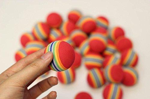 36pcs EVA ball foam ball rainbow practice golf training aids or cat toy by A99 Golf (Image #3)