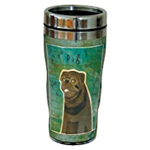 Tree-Free Greetings sg24057 Black Pug by John W. Golden 16-Ounce Sip 'N Go Stainless Steel Lined Travel Tumbler