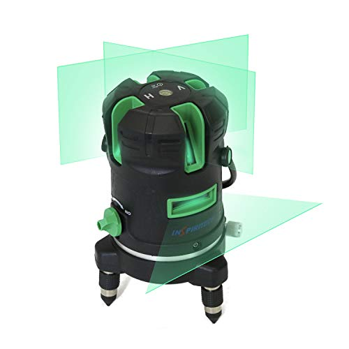 (Self-Leveling Laser Level Green Beam Horizontal Vertical Cross-Line Laser, 360-Degree Rotary Tilt Mode, Touch Keypad Full Rubber Covered,Carrying Case Included)