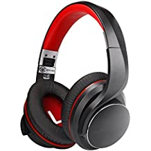 Wireless Bluetooth Headphones, AUSDOM Bluetooth 4.2 Over-Ear Headphones Apt-X Low Latency with Mic Fast Audio for TV PC Gaming, Noise Isolating Foldable Wired Headset, Stereo Deep Bass and Comfortable