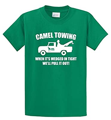 Comical Shirt Men's Camel Towing Rude Humor Funny Shirt Mens T-Shirt