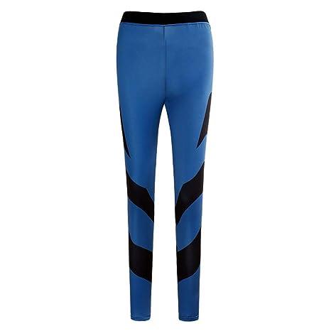 JUNMAONO Mujer Yoga Pantalones Leggings Deportivo Fitness Chándal ...
