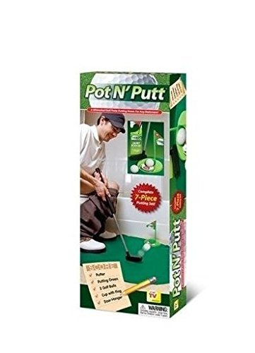 Smart TV Solutions Pot n Putt Bathroom Golf Putting Game by Smart TV Solutions