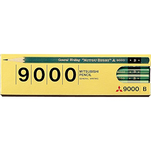 Mitsubishi Pencil pencil office pencil 9000 B 12 pieces K9000B