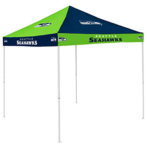 Logo Brands NFL Seattle Seahawks Checkerboard Tent Checkerboard Tent, Navy, One Size