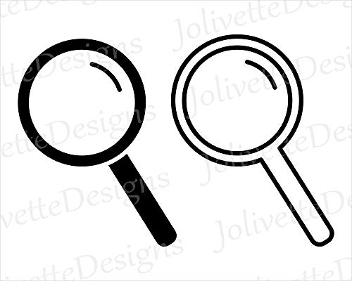 Moira Magnifying Glass Detective Spyglass Mirror Design vinly Decal Decal Sticker -