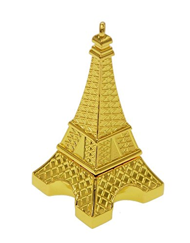 WooTeck 16GB Metal Eiffel Tower USB Flash Drive (Golden) (Tower Pendrive Eiffel)