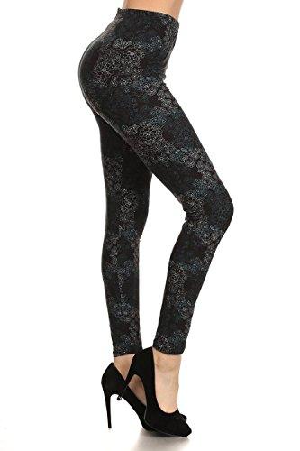 - R538-PLUS Private Affair Print Fashion Leggings