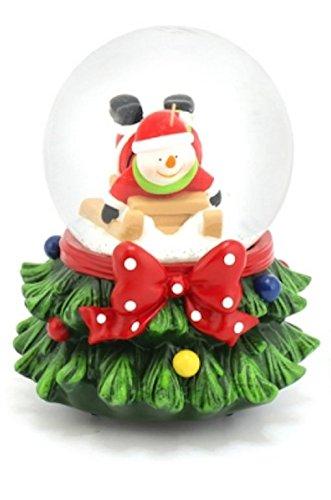 Life Is Good Musicaux Noël Bonhomme de Neige Globe de Neige Boule à Neige Tempête de Neige dans Une boîte Cadeau L&P