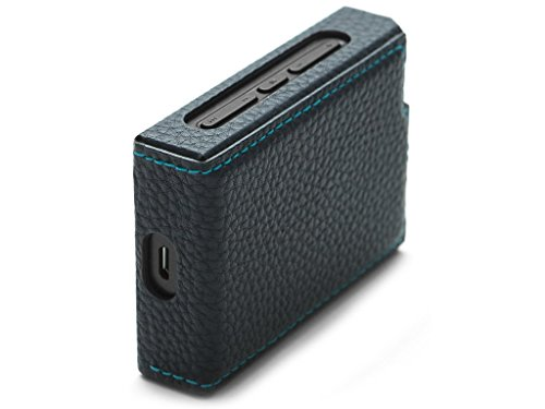 Leather Case for PLENUE D (Navy) / Shock Absorbing Cover Case, Anti-Slip Grip