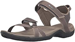Women's Teva, Verra sporty Sandals These stylish sandals are loaded with performance! Fabric upper Two adjustable hook and loop closure straps for a precise fit Fabric lining Contoured foam cushioned footbed with Shoc Pad in the heel 1 1/4 in...