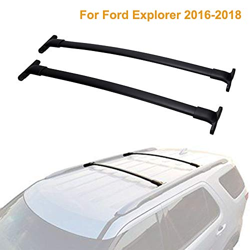 Rails Roof Ford (ALAVENTE Roof Rack Cross Bars for Ford Explorer 2016 2017 2018 with Factory roof Side Rails (Pair))