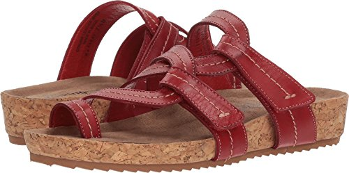 Gå Vugger Kvinners Panama Flat Sandal Red