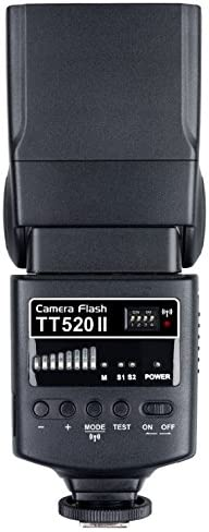 33m at ISO 100 Guide Number Nikon 433MHz Wireless Transmission GODOX Thinklite TT520II Flash for Canon Olympus and Panasonic DSLR Cameras Pentax