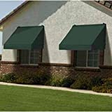 Classic Awning w Installation Kit for Increased Energy Efficiency - 6-Feet Width (Forest Green)