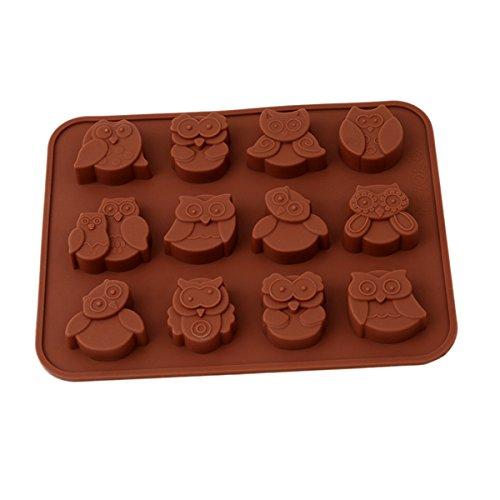 Chawoorim 12 Owls Silicone Chocolate