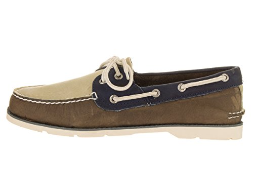 Sperry Top-sider Mens Chaussure Bateau Sous Le Vent Tan / Blanc / Nvy