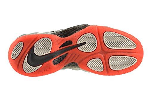 Nike Air Foamposite Pro Mens Pallacanestro-scarpe 624041 Platino Metallico / Nero-luminoso Cremisi