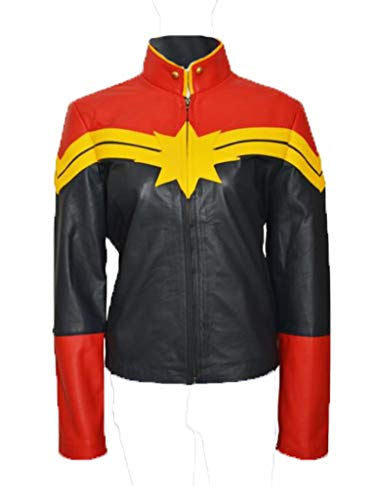 Carol Danvers Captain Marvel Costume Womens Leather Jacket (S)