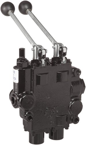 Prince RD522CCAA5A4B1 Directional Control Valve, Two Spool, 4 Ways, 3 Positions, Tandem Center, Cast Iron, 3000 psi, Lever Handle, 25 gpm, In/Out: 3/4'' NPTF, Work 1/2'' NPTF by Prince Manufacturing (Image #3)