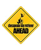 Idakoos - Chesapeake Bay Retriever AHEAD ! - Dogs - Crossing Sign