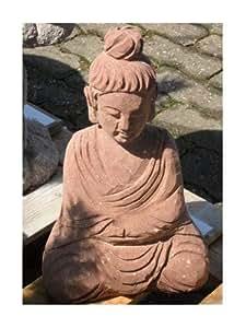 Bonita Buda de arena roja piedra–Jardín Japonés rokkaku yukimi Kasuga Pagoda