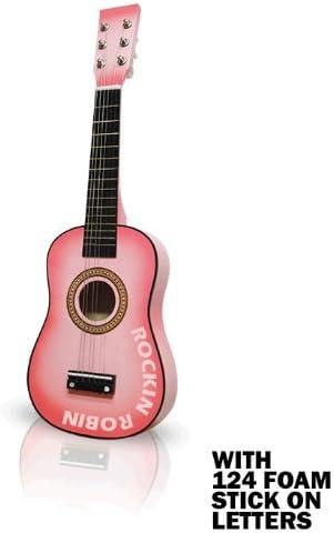Rosa guitarra acústica 23 en (con 124 Stick de letras): Amazon.es ...