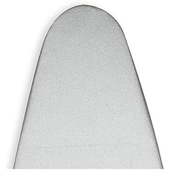 Encasa Homes Metallised Ironing Board Cover 'Silver Super Luxury' with Foam + Felt PAD (Fits Standard Wide Boards 18