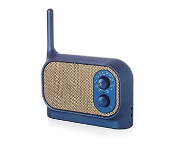 Lexon Mezzo Radio Bleu Métallisé