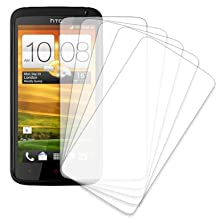 MPERO 5 Pack of Clear Screen Protectors for HTC One X+