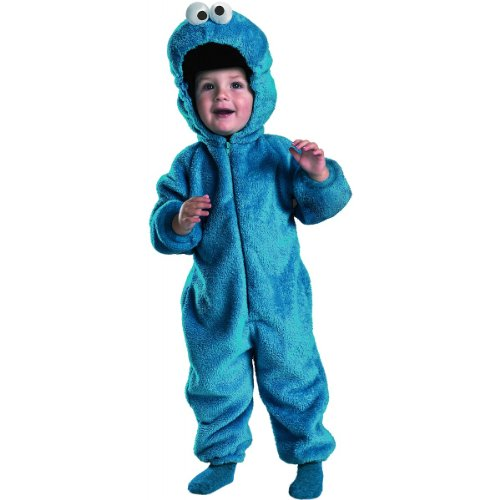 Cookie Monster Deluxe Two-Sided Plush Jumpsuit Costume - Small (2T) (Monster Halloween Cookies)