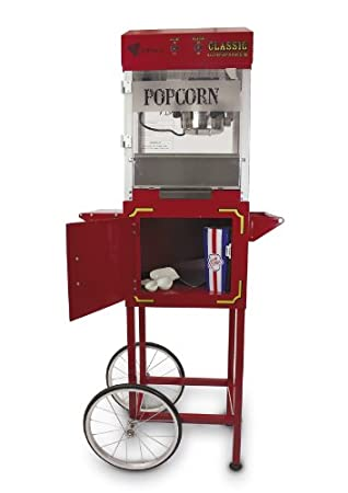 4oz rojo Semi Pro palomitas eléctrica Parte Superior y carro - Catering máquina de palomitas de maíz: Amazon.es: Hogar