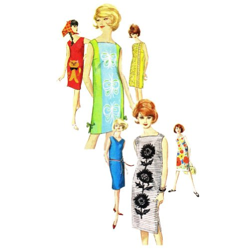 (Simplicity 5309 Misses Sleeveless Shift Dress Vintage Sewing Pattern, Check Offers for Size)