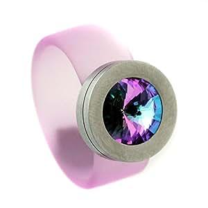 SR-FL-VL caucho anillo Swarovski piedra