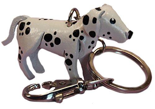 (Black & White Keychain Dalmatian Charm - Keyring Holder - Unique Animal Gifts Women)