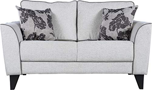 HomeTown Chester Plus Fabric Two Seater Sofa in Beige Color