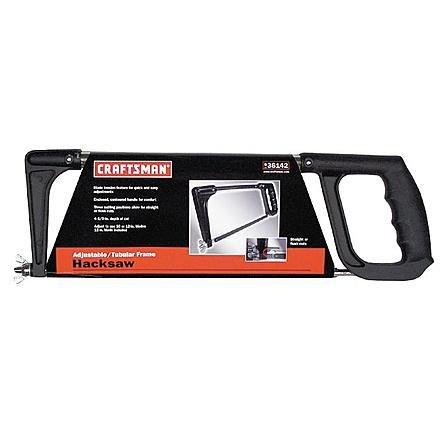 Adjustable Hacksaw Frame - Craftsman 10 or 12-Inch Adjustable and Tubular Frame Hacksaw, 9-36142