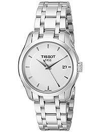 Tissot Women's T0352101101100 Couturier Analog Display Swiss Quartz Silver Watch