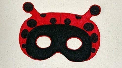 Halloween Costume Kid /& Adult Ladybug Felt Embroidered Mask Pretend Play Insect Mask