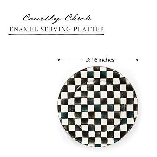 Mackenzie Childs Courtly Check Serving Platter Large 16 Inch Dish Enamel Kitchenware Line Pricepulse