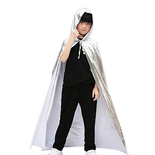 Da.Wa Halloween Costume Cos Play Adult Vampire Cloak Child Magician Death God Witch Bronzing Cloak White 150cm]()