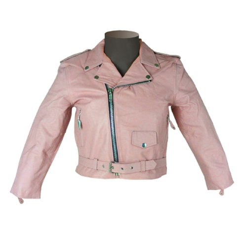 Girls Kids Pink Leather Jacket KJ742 3XL