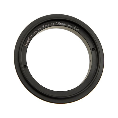 (Fotodiox 58mm Macro Reverse Adapter for Mounting Lenses with 58mm Filter Threads on Canon EOS EF/EF-s Cameras)