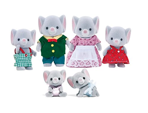 Calico Critters Ellwoods Elephant Family with Baby Twins