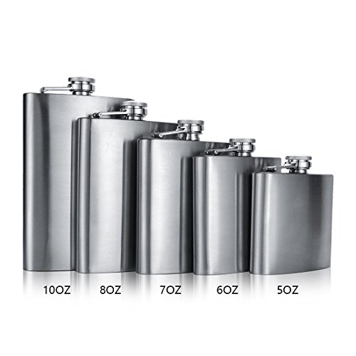 Stainless Steel 10oz Hip Drink Liquor Whisky Alcohol Flask Screw Funnel Cap - 3
